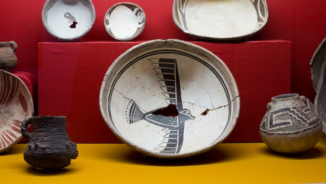 Mimbres pottery in the Western New Mexico University Museum collection exemplifies some of the construction details that Dr. Stephen H. Lekson will present about on Thursday, Dec. 7, 2017.