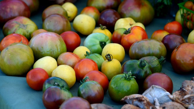 Goods from earlier this year at the Casino Beach Farmer's Market.