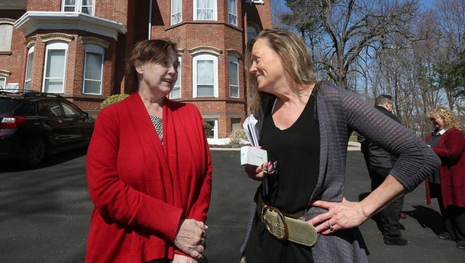 Janine Baker, left, is a tenant in Patty Plassart's apartment building in Haverstraw March 29, 2017.