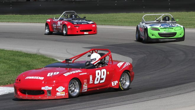 Drivers raced their vehicles around the Mid-Ohio Sports Car Course on Tuesday to qualify for this weekend's SCCA National Championship Runoffs.