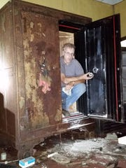 During an expedition to salvage relics at Overbrook Hospital, President of the Verona Historical Society  Robert Williams found a safe.