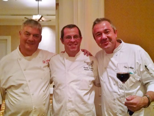 Three of the four chefs who  participated in the auction as the French Connection were Phillippe Caupin, Francois Gaertner and Alain Redelsperger.