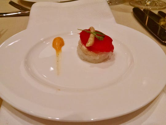 Some lucky bidder could up being served this tuna roll and foie gras with truffle.