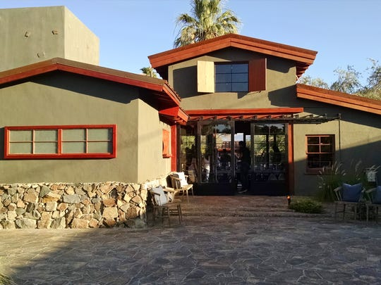 The Barn Kitchen is located on the left at Sparrows Lodge in Palm Springs.