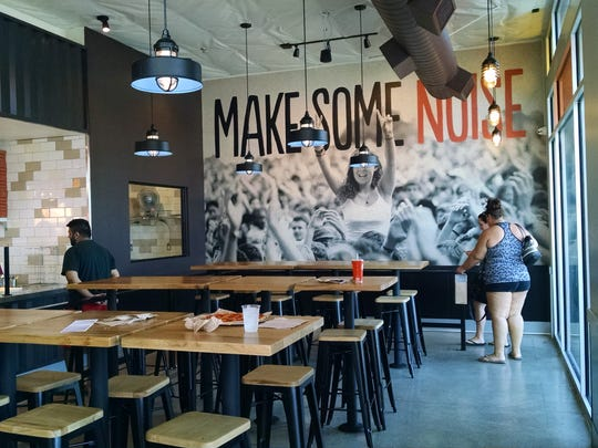 Blaze Pizza's vibe is modern, casual, with plenty of cultural inspiration.
