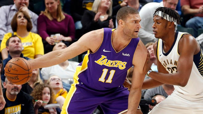 Brook Lopez has averaged 17.9 points a game over his 10-year career.