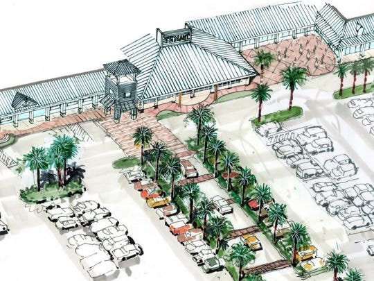 A rendering of the proposed Marco Town Center renovation project. The Marco Island Planning Board discussed the project at its meeting Friday, March 2, 2018.