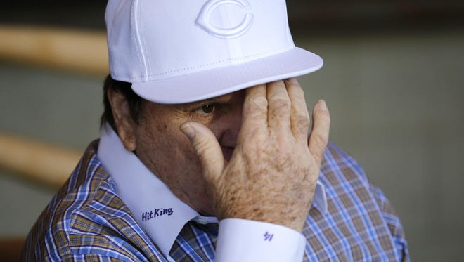 Former Cincinnati Red and MLB all-time hit leader Pete Rose, shown Tuesday at a press conference in Las Vegas, had a shot at redemption when he met earlier this year with baseball Commissioner Rob Manfred. But he blew any shot at reinstatement by lying.