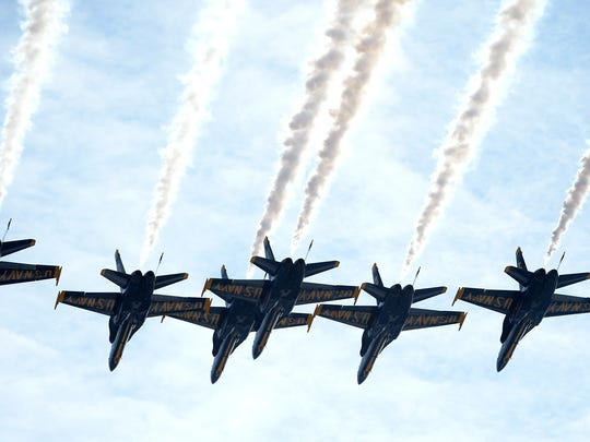 U.S. Navy Flight Demonstration Squadron, the Blue Angels,