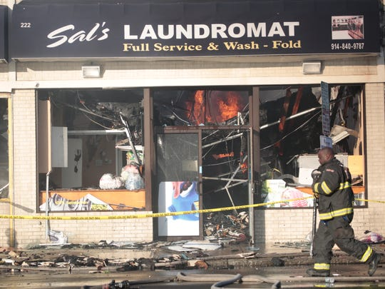 Mount Vernon firefighters fight a stubborn storefront