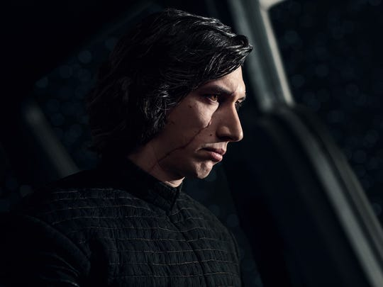 "In ""Star Wars: The Last Jedi,"" Adam Driver's Kylo Ren"