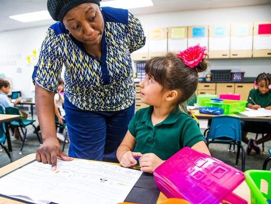 Full-day kindergarten at Sheely Farms Elementary School