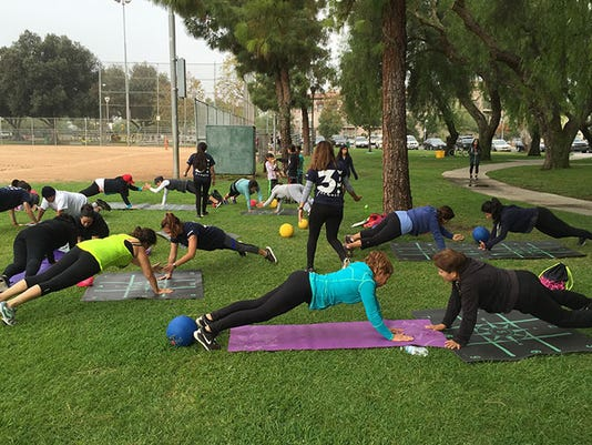 Pushups in the park: Cal State students lead outdoor exercise in low-income areas