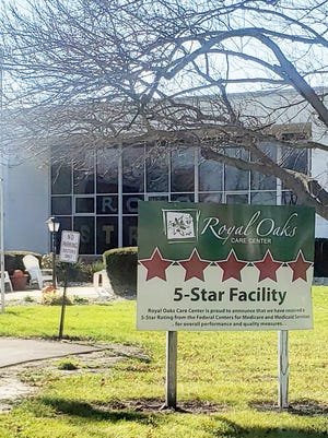 The Royal Oaks Nursing and Senior Rehab Center in Kewanee is the site of a major COVID-19 outbreak, with 41 residents and 29 staff members reported to have contracted the virus.