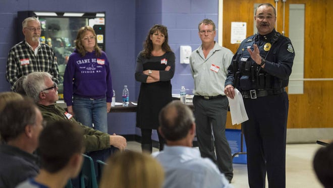 Richmond Police Chief Al Buck speaks during a community meeting to discuss opiate addiction in Richmond in 2015.