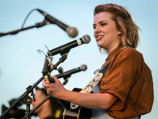 American Idol finalist Maddie Poppe sings during a