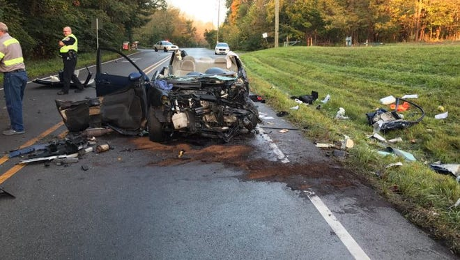 One woman was killed and another was seriously hurt early Monday in a two-vehicle crash near Eagle Creek.