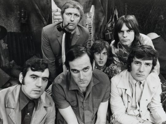 Monty Python in 1969. Bottom from left, Terry Jones,
