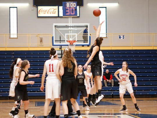Pace's Goldstein Center has been a regular host of Section 1 teams in state regional playoff games, including the Somers girls' 44-39 win over Vestal in the Class A regional final on March 11, 2017.
