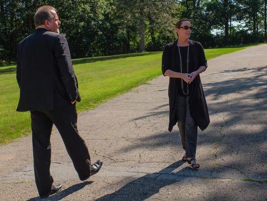 Tim Bazany and Kim Gossman from Catholic Funeral &