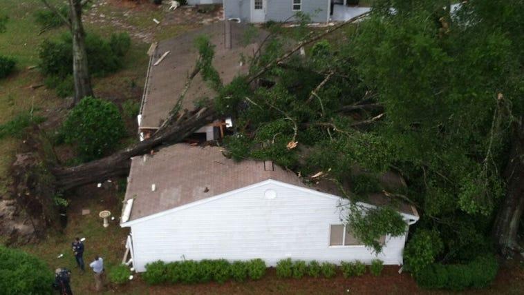Storm damage in Ocala