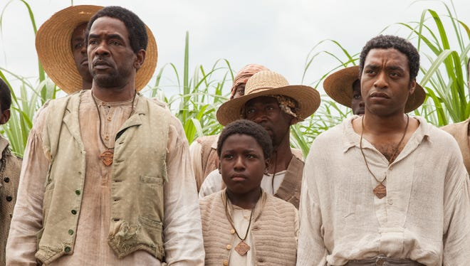 Chiwetel Ejiofor, right, stars in director Steve McQueen's highly-anticipated 'Twelve Years a Slave,' which also stars Brad Pitt and Michael Fassbender.