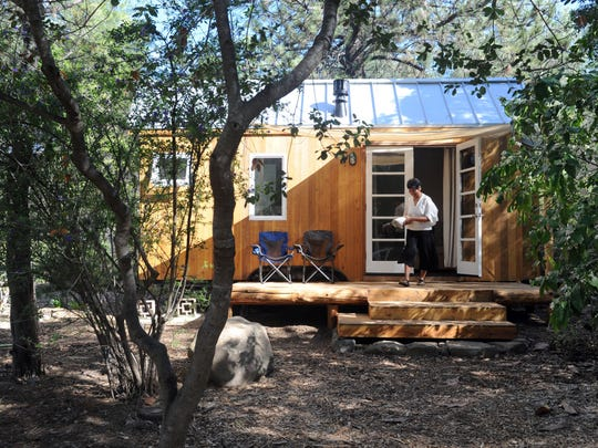 This photo shows a tiny house in the Ojai area.