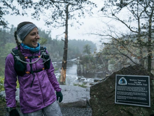 Annie Weiss stands at the western terminus of the Ice