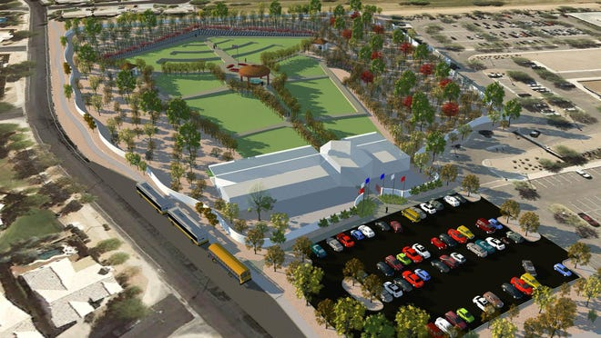 Gilbert veterans project Rendering courtesy of Neill + Young Associates, LLC and Sundt Construction