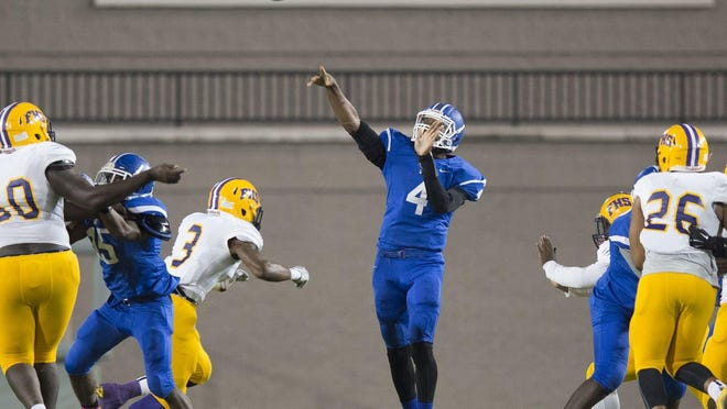 Quarterback James Foster and the Sidney Lanier Poets travel to face Helena in a Class 5A matchup.
