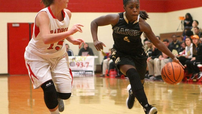Peabody's Maya Anderson (right) and the Lady Tide entered the Dirty Dozen this week.