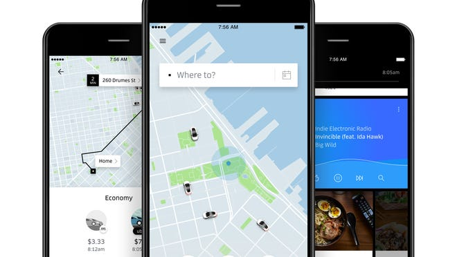 Image of Uber app.