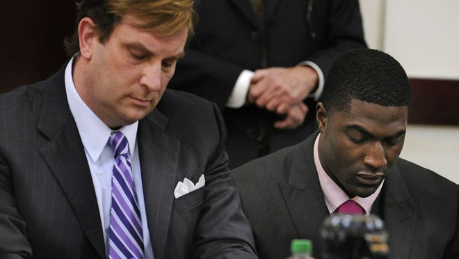 Attorney Worrick Robinson with Cory Batey, who was convicted of rape.