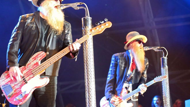 ZZ Top performs during the Stagecoach Festival in Indio, Saturday, April 25, 2015.