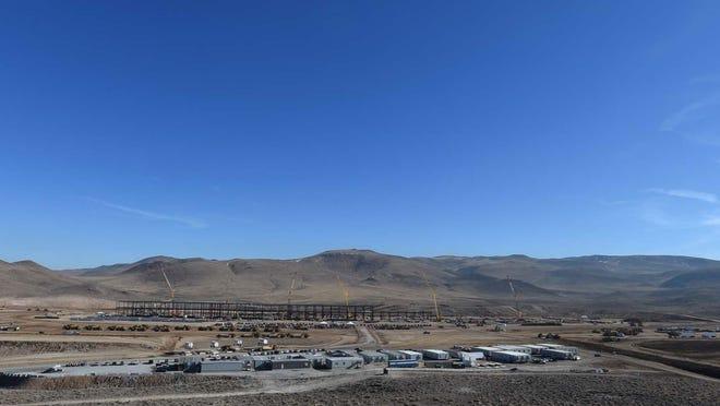 Tesla's gigafactory in the Tahoe Reno Industrial Center.