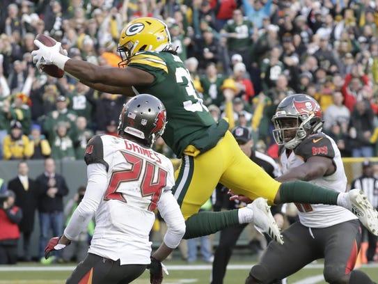 Aaron Jones' 20-yard scamper in overtime gave the Packers