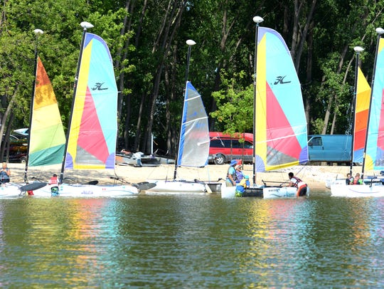 Area youth learned to sail Tuesday during a three-hour