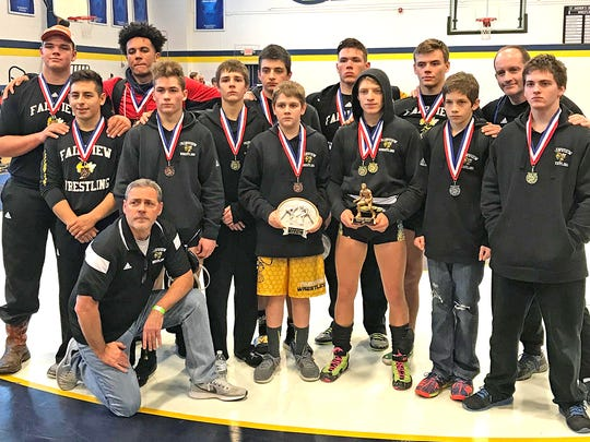 The Fairview High School Wrestling Team took first