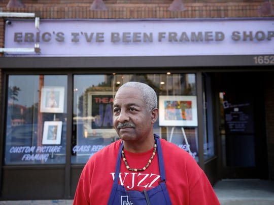 Eric Vaughn, owner of Eric's I've Been Framed Shop near the University of Detroit Mercy, says the area just needs a dose of investment to energize it.