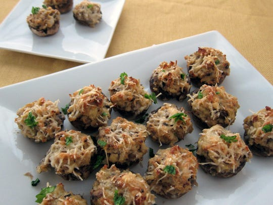 These Crab-stuffed Mushrooms make an appetizer that's easy on the diet.