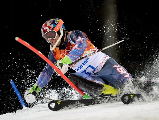 Olympics: Alpine Skiing-Men's Slalom