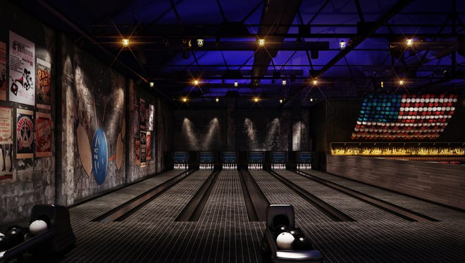 Renderings from the newly renovated Asbury Lanes that is set to open Memorial Day Weekend.