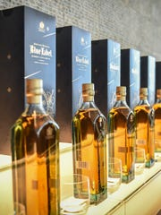The limited edition Guam Johnnie Walker Blue bottle was unveiled at the Dusit Thani Guam Resort on July 30.