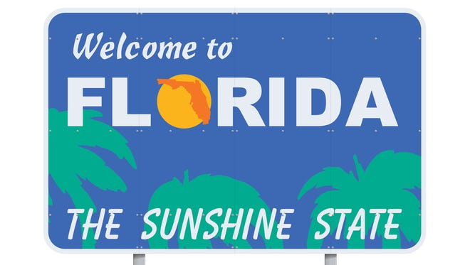 Welcome to Florida sign.