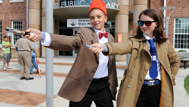 """""""Doctor Who"""" fans at last year's Dover Comic Con. The festival returns Saturday to downtown Dover."""