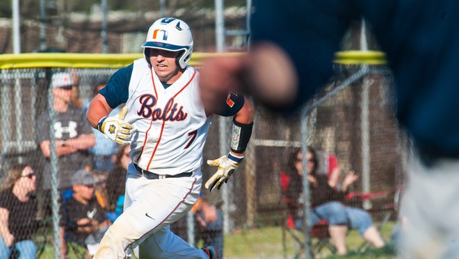 Buddy Kennedy of Millville heads for home during action in Monday's Cape-Atlantic League game against St. Augustine.