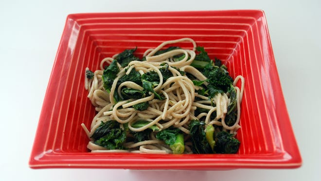 Buckwheat Noodles With Coconut Milk and Kale.
