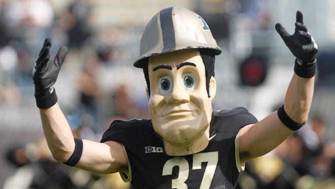 Purdue Pete trys to get the crowd into the game as the Boilermakers take on Minnesota Saturday, October 10, 2015, at Ross-Ade Stadium. Minnesota beat Purdue 41-13.