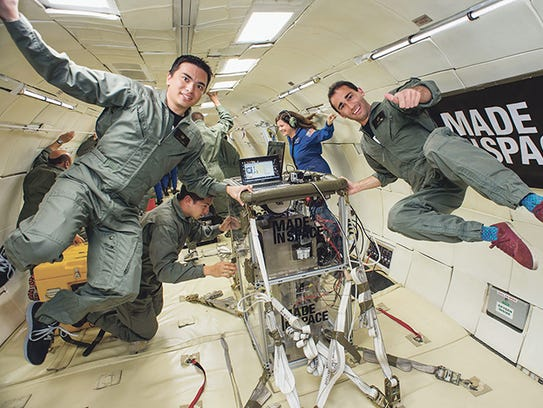 The Made In Space 3-D printer was tested in simulated