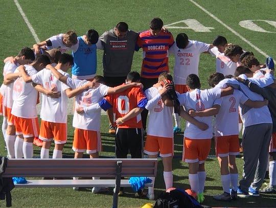 The Central High School boys soccer team has won 10